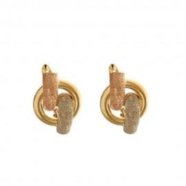 Orecchini in oro 18 Kt diamantati da donna