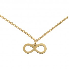 Yellow gold 18 K with Infinity pendant necklace