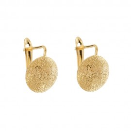 Gold 18 K half spheres woman earrings