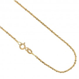Catenina in oro 18 K maglia flash da donna