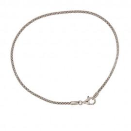Gold 18 K pop-corn cable bracelet
