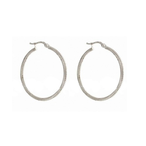 Gold 18 K hoops woman earrings