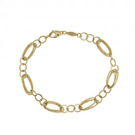 Yellow gold 18Kt 750/1000 link chain woman bracelet