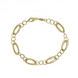 Yellow gold 18Kt 750/1000 link chain woman bracelet