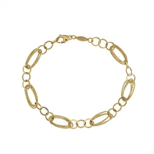 Yellow gold 18 K chain link bracelet