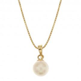 Collana in oro 18 Kt con perla naturele