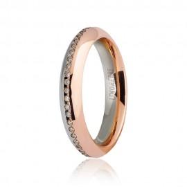 Fede Unoaerre oro 18 Kt modello Eterna con diamanti