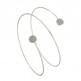 Gold 18 Kt 750/1000 with white cubic zirconia bangle