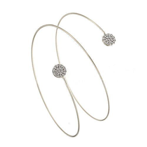 Gold 18 K with cubic zirconia bangle
