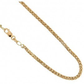 Gold 18 Kt 750/1000 shiny ear chain unisex necklace
