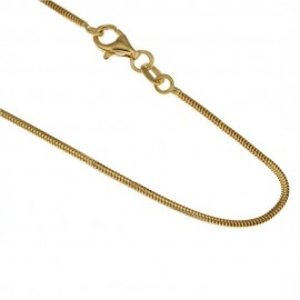 Yellow gold 18kt 750/1000 timothy chain unisex necklace