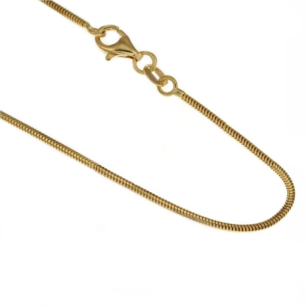 nuovo stile 756c1 a4ee6 Collana in oro giallo 750% 18Kt modello coda di topo 50cm