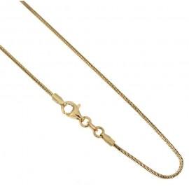 Collana in oro giallo 750/1000 18Kt modello coda di topo 40cm