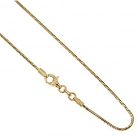 Yellow gold 18 Kt 750/1000 timothy chain shiny unisex necklace