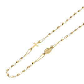 Yellow gold 18Kt 750/1000 with spheres rosary necklace