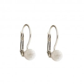 Gold 18 K diamond cut spheres earrings