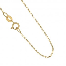 Gold 18 Kt 750/1000 Rolò chain unisex necklace