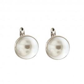 Orecchini in oro 18 Kt con perla naturale