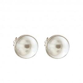 Orecchini in oro 18 Kt 750/1000 con perla naturale lucidi da donna