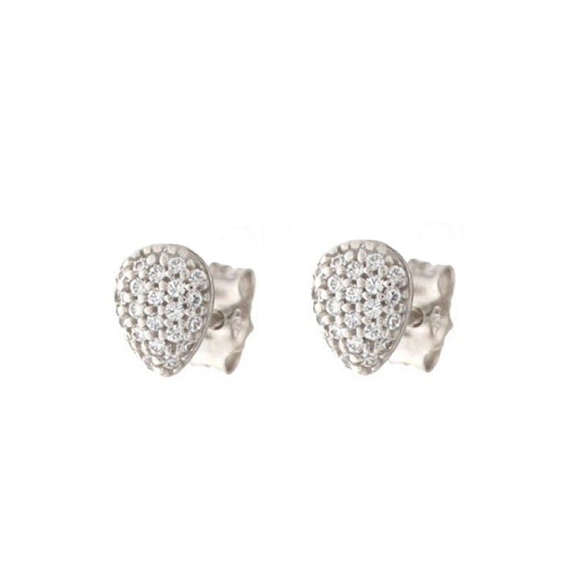 Gold 18 K Cubic Zirconia Drop Earrings