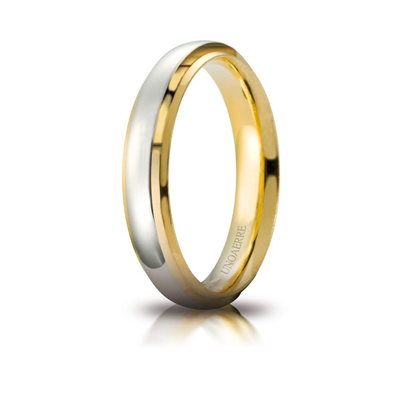 White and Yellow Gold 18 K Cassiopea Wedding Ring