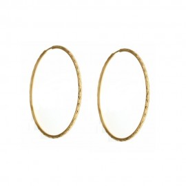 Orecchini A Cerchio In Oro 18 Kt Sfaccettati Donna