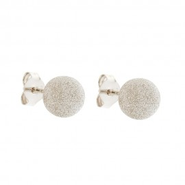 18 Kt Gold Diamond Cut Spheres Earrings