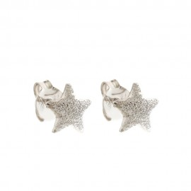 Gold 18 Kt 750/1000 with diamond-cut stars woman earrings