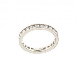 Gold 18 K White Cubic Zirconia Woman Ring