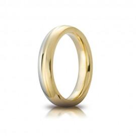 Fede Unoaerre in oro giallo e bianco 18Kt 750/1000 modello Eclissi