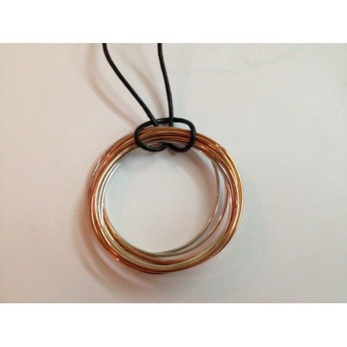 925 sterling silver and bronze necklace Brosway