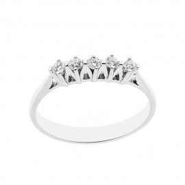 18 Kt 750/1000 white gold ring with diamonds Kt 0.20 Grama&Mounier