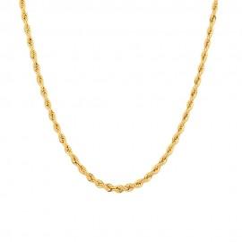 Collana in oro 18 Kt 750/1000 a maglia intrecciata finitura lucida