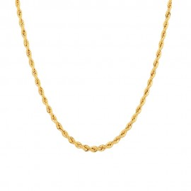 Yellow gold 18 K 750/1000 interlaced chain unisex necklace