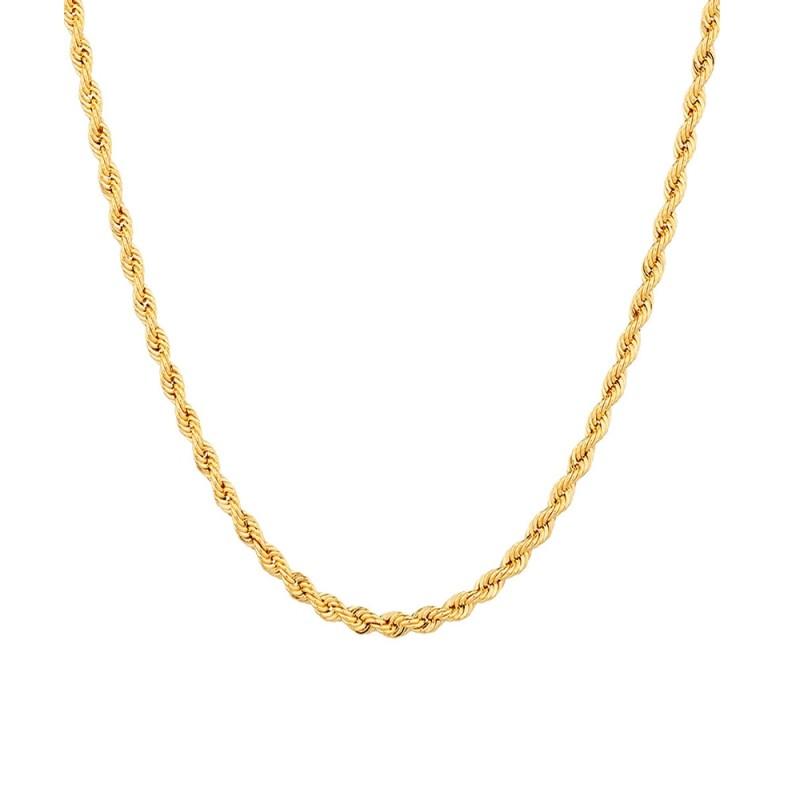 Collana in oro giallo 18 Kt 750/1000 a maglia intrecciata