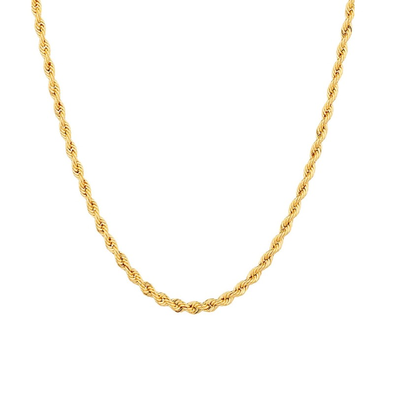 Yellow gold 18 K 750/1000 interlaced chain necklace