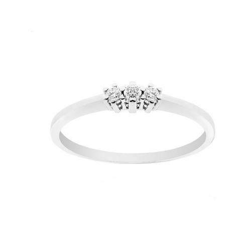 Trilogy in oro bianco 18 Kt 750/1000 con diamanti Kt 0.09