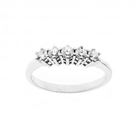18K 750/1000 white gold ring with diamonds Kt 0.45
