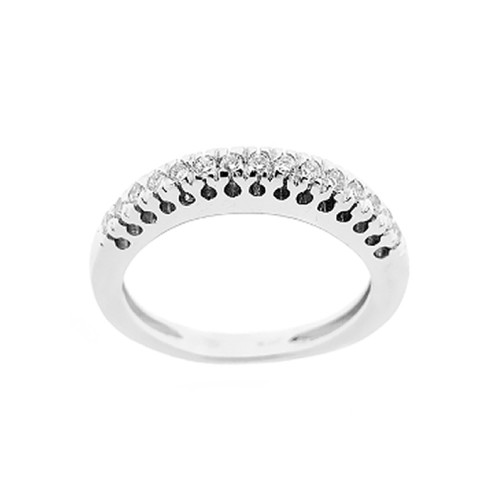 18K 750/1000 white gold riviera ring with diamonds Kt 0.23