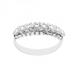 Anello Riviera in oro bianco 18 Kt 750/1000 con diamanti Kt 0.71