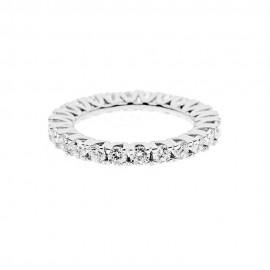 18K 750/1000 white gold veretta ring with diamonds Kt 1.98