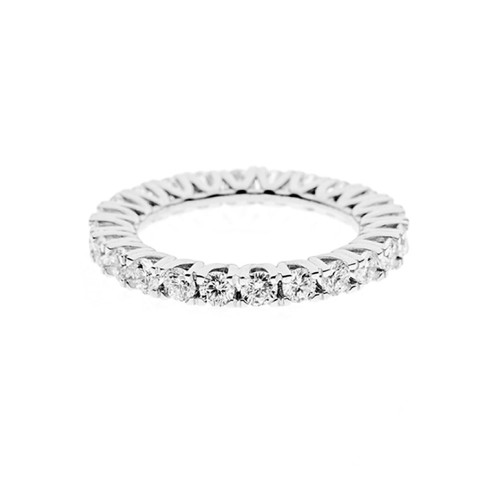 Veretta in oro bianco 18 Kt 750/1000 con diamanti Kt 1.98