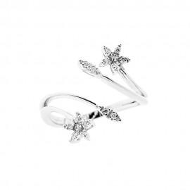 Anello in oro bianco 18 Kt 750/1000 con diamanti Kt 0.10
