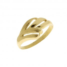 Yellow and white solid gold 18 K 750/1000 woman ring
