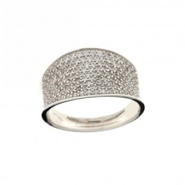 18K 750/1000 Gold, Cubic Zirconia Band Ring