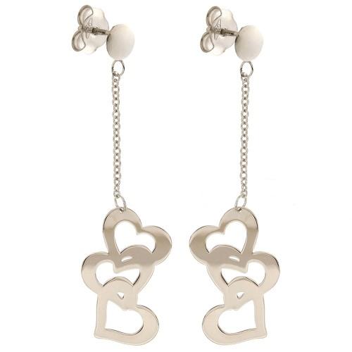 18k 750/1000 Hearts pendant earrings