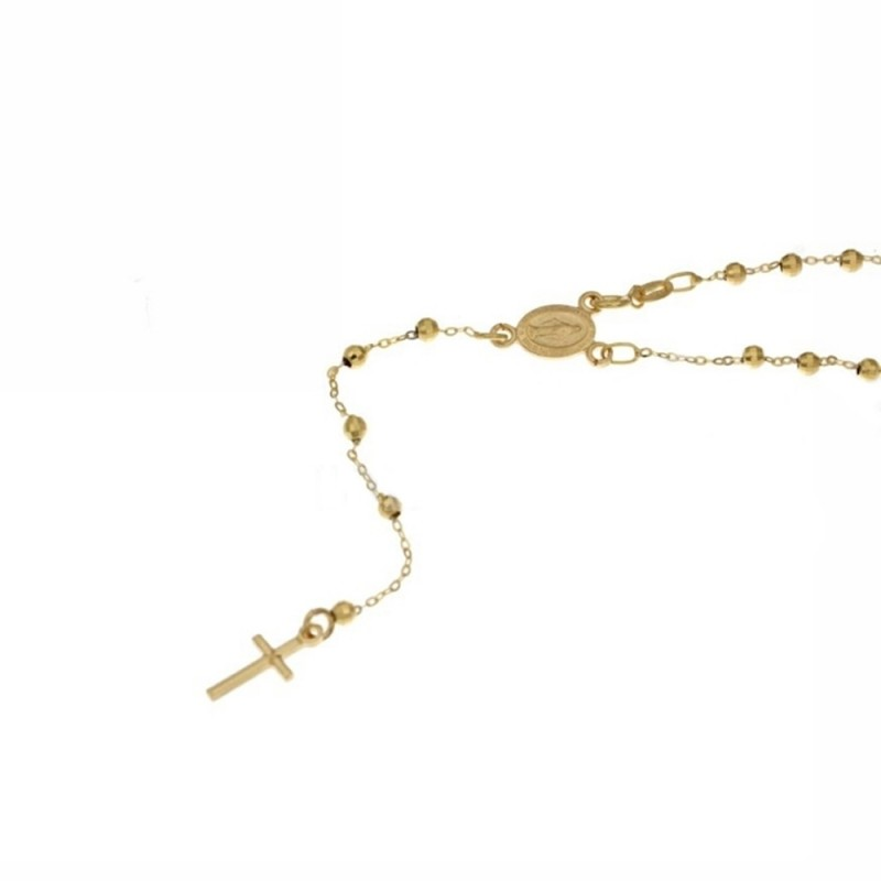Rosary necklace yellow gold 18 carat woman