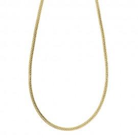 Girocollo in oro giallo 18k 750/1000 modello spiga piatta, lucida