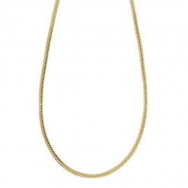 Yellow gold 18k 750/1000 Ear chain shiny unisex necklace