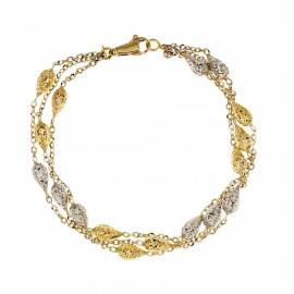 Bracciale in oro 18k 750/1000 modello a tre giri da donna